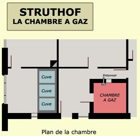Toutefois voici un plan extrait du site officiel de for Camp du struthof chambre a gaz